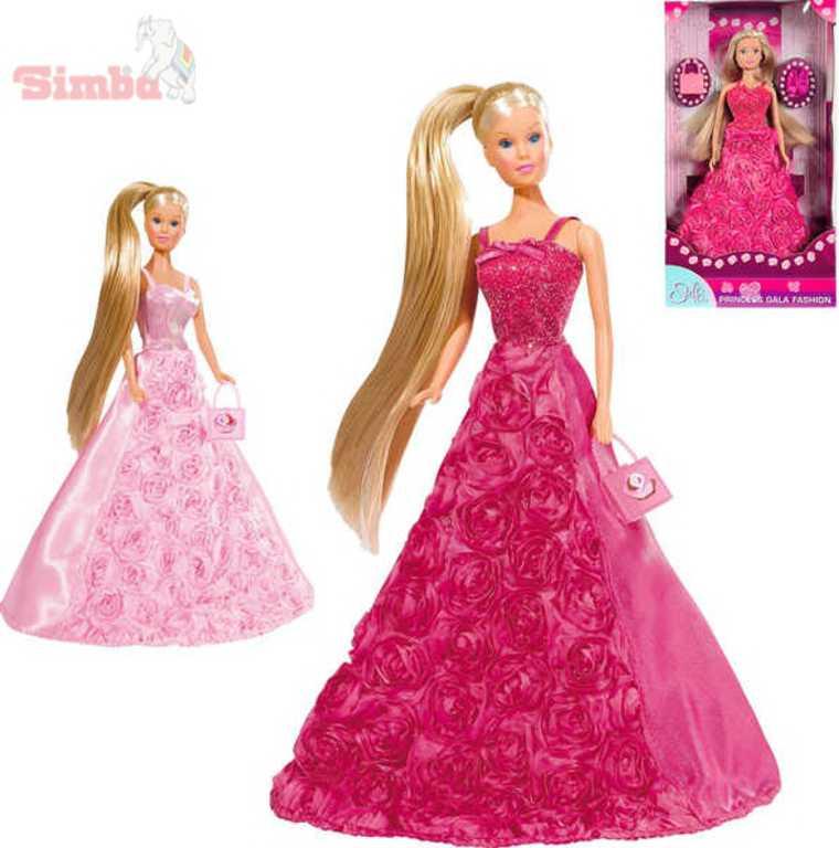 SIMBA Panenka Steffi Gala Princess 29cm set růžové šaty s doplňky 2 druhy