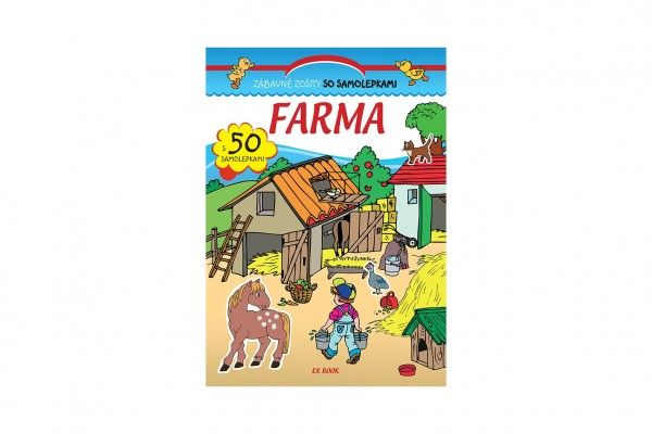 Zábavný zošit so samolepkami Farma SK verze 20x28cm