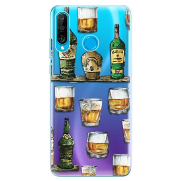 Odolné silikonové pouzdro iSaprio - Whisky pattern - Huawei P30 Lite