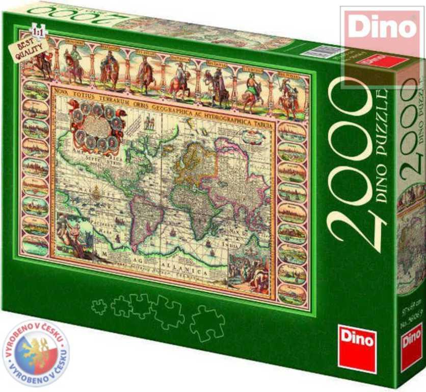 DINO Puzzle 2000 dílků Mapa historická