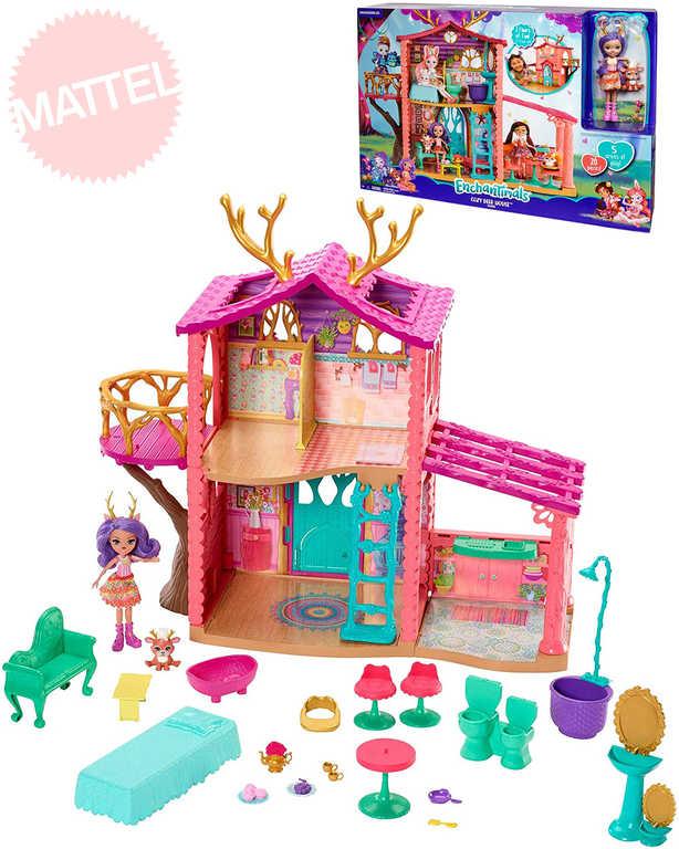 MATTEL Enchantimals herní set jelení dům s panenkou a doplňky