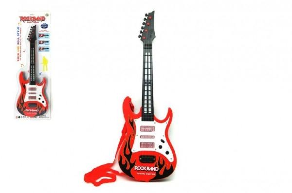 Kytara plast 54cm na baterie se zvukem se světlem na kartě
