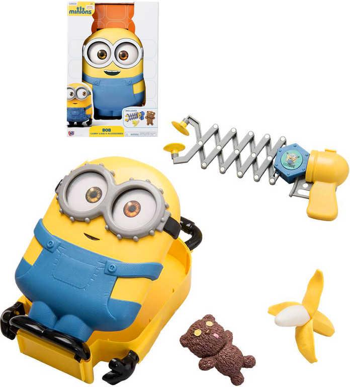 Kufřík dětský Mimoňové (Minions) Bob plastový set se 3 specifickými doplňky