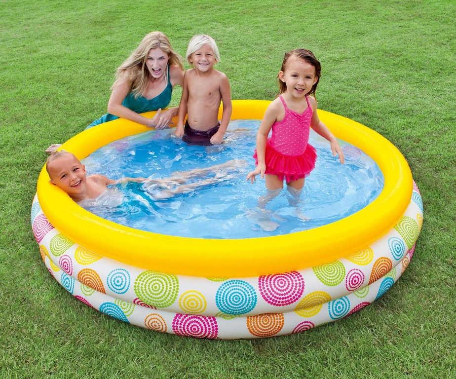INTEX Baby bazén nafukovací kruh 147 x 33 cm na vodu 2 druhy
