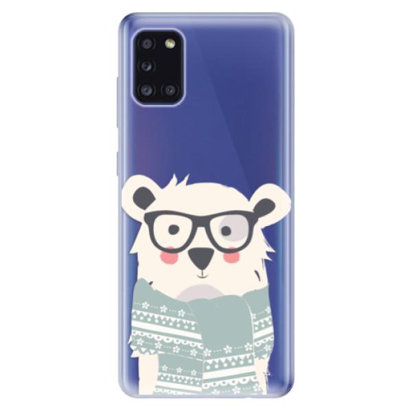 Odolné silikonové pouzdro iSaprio - Bear with Scarf - Samsung Galaxy A31