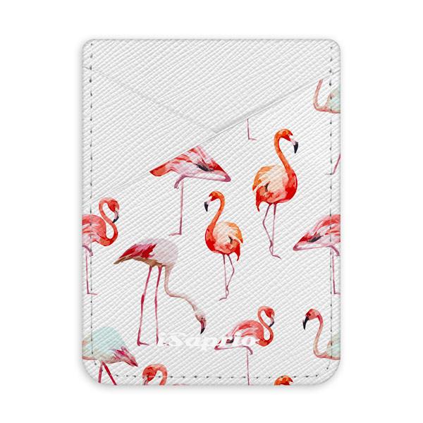 Pouzdro na kreditní karty iSaprio - Flami Pattern 01 - světlá nalepovací kapsa