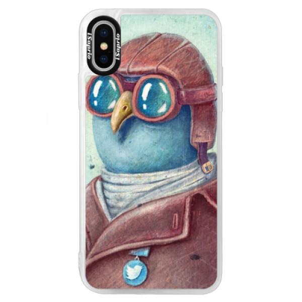 Neonové pouzdro Blue iSaprio - Pilot twitter - iPhone X
