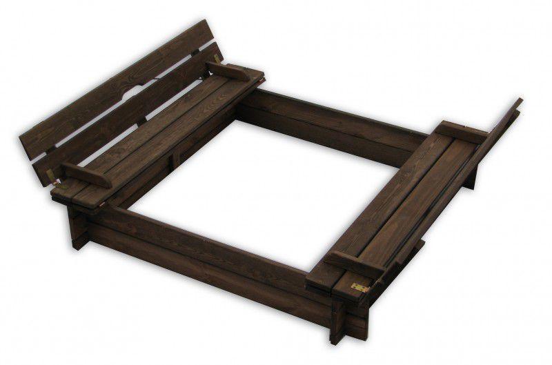 Dřevěné pískoviště s lavičkami
