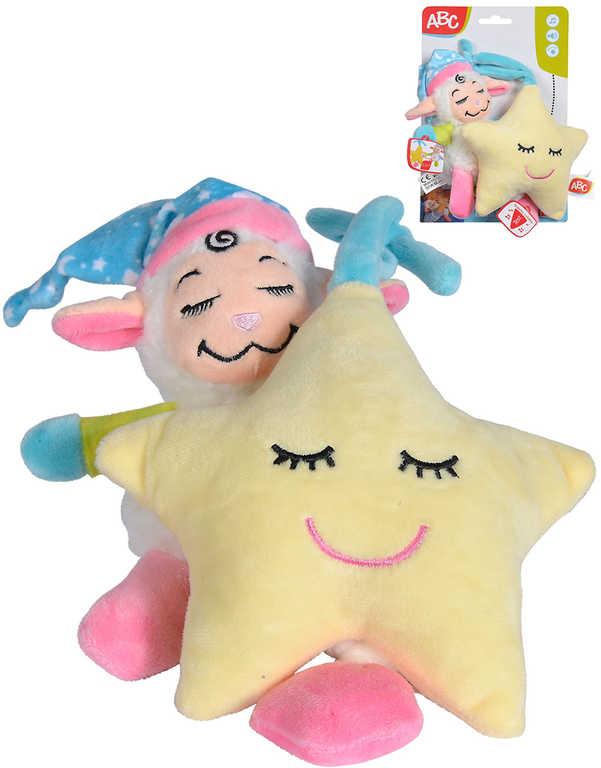 SIMBA PLYŠ Baby set chrastítko ovečka a hvězdička hrající usínáček na natažení