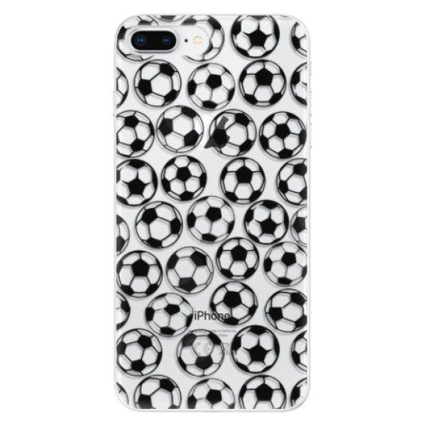 Odolné silikonové pouzdro iSaprio - Football pattern - black - iPhone 8 Plus