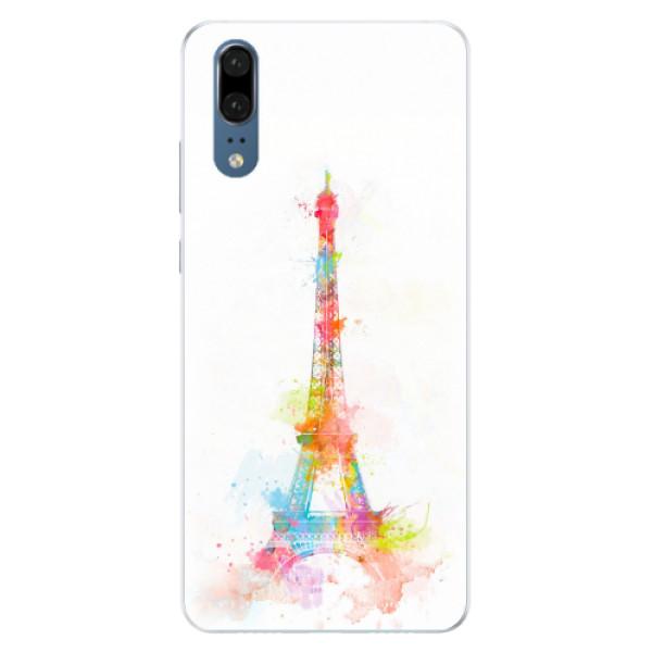 Silikonové pouzdro iSaprio - Eiffel Tower - Huawei P20