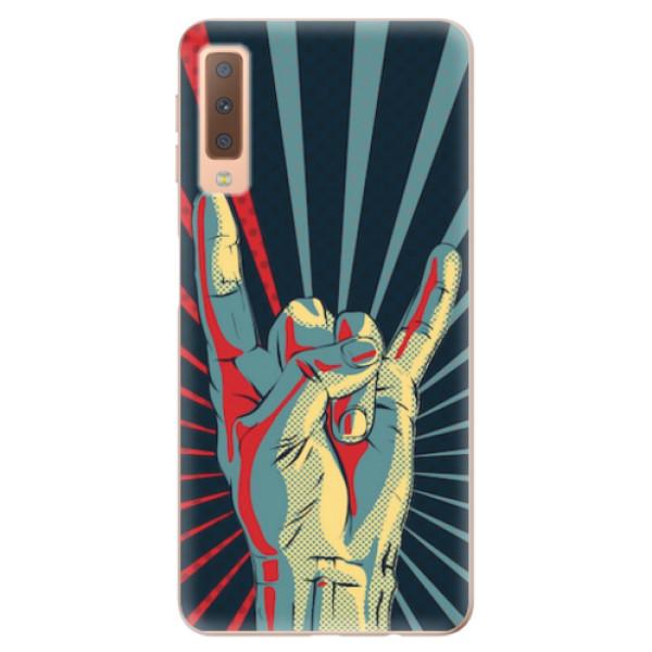 Odolné silikonové pouzdro iSaprio - Rock - Samsung Galaxy A7 (2018)