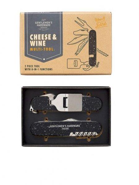 Multifunkční nástroj na víno a sýr