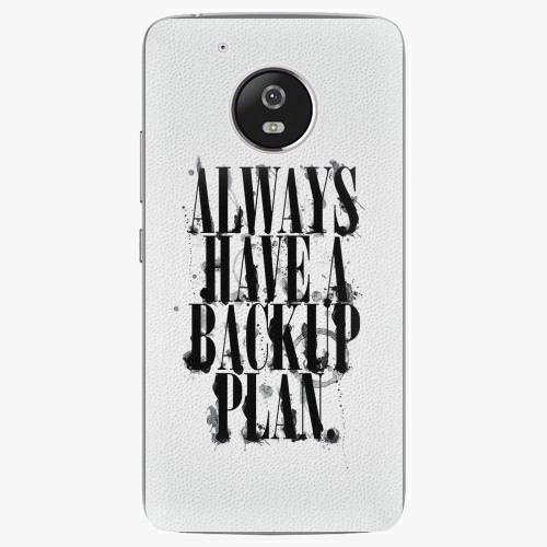Plastový kryt iSaprio - Backup Plan - Lenovo Moto G5