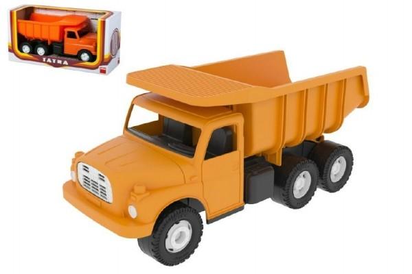 auto-tatra-148-plast-30cm-oranzova-sklapec-v-krabici