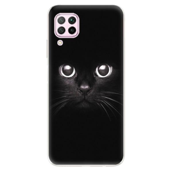 Odolné silikonové pouzdro iSaprio - Black Cat - Huawei P40 Lite