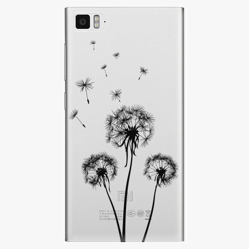 Plastový kryt iSaprio - Three Dandelions - black - Xiaomi Mi3
