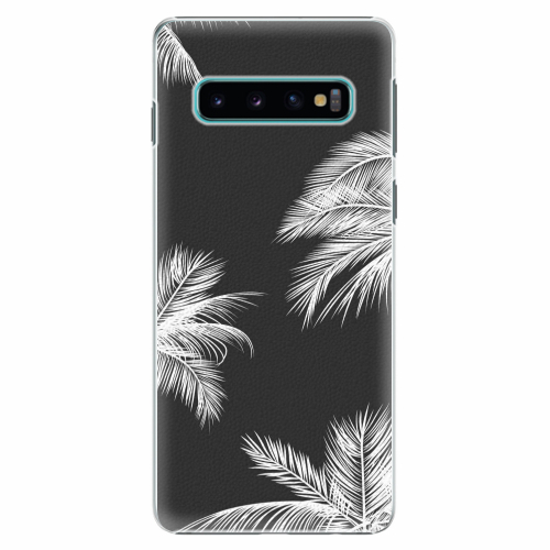 Plastový kryt iSaprio - White Palm - Samsung Galaxy S10