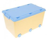 Dětský úložný box na kolečkách - žlutý