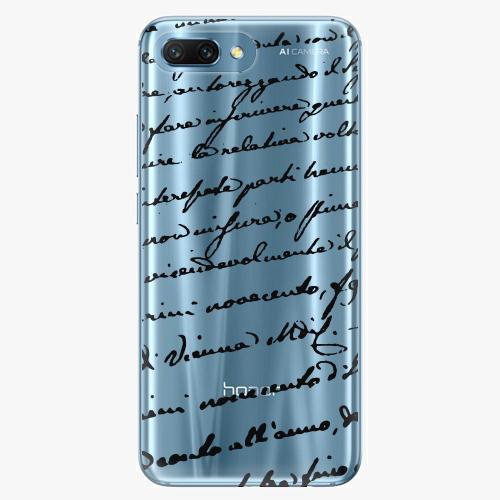 Silikonové pouzdro iSaprio - Handwriting 01 - black - Huawei Honor 10