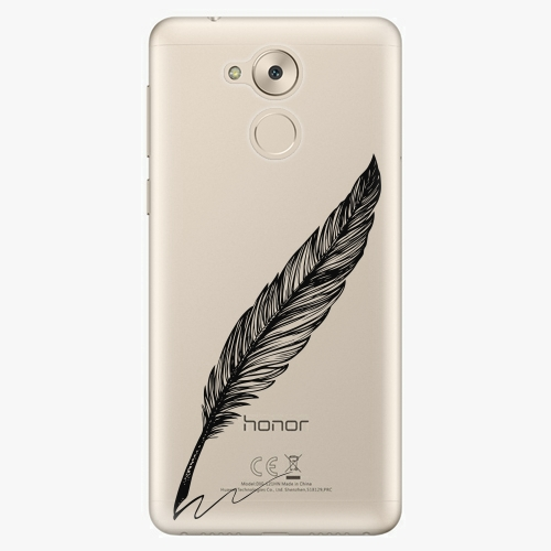 Plastový kryt iSaprio - Writing By Feather - black - Huawei Nova Smart