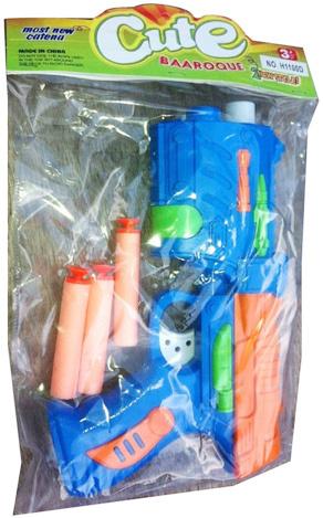 Pistole plastová se soft náboji střelkami