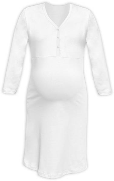 JOŽÁNEK Těhotenská, kojící noční košile PAVLA 3/4 - bílá