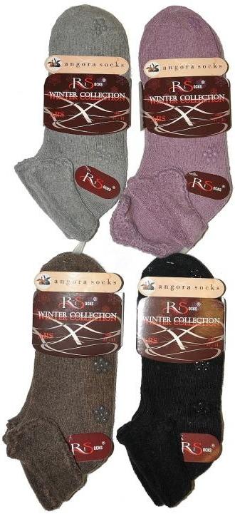 Ponožky RiSocks Angora Haft ABS - Hnědá/37-41