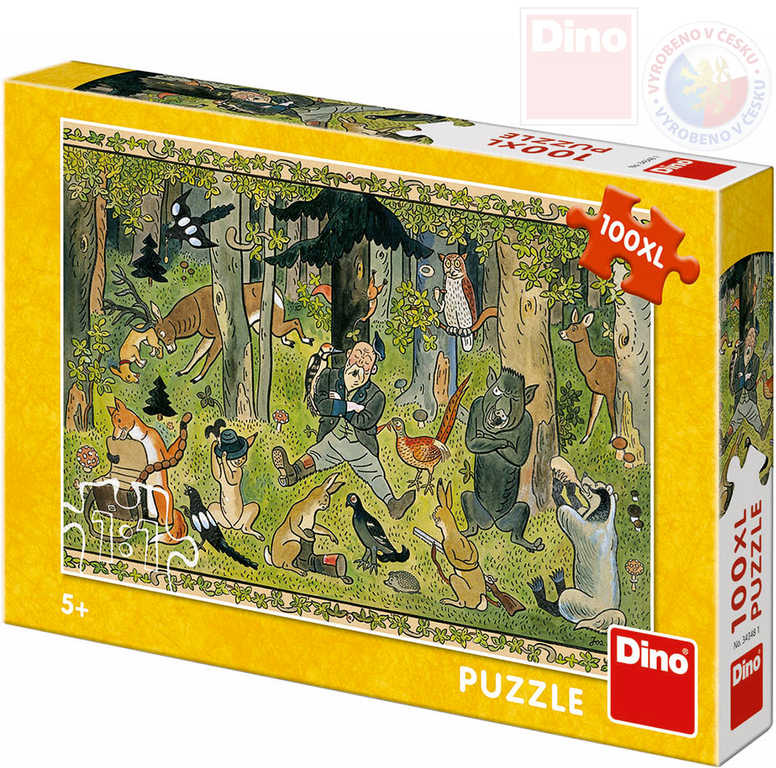 DINO Puzzle 100 dílků Josef Lada Hajného sen 47x33cm skládačka v krabici