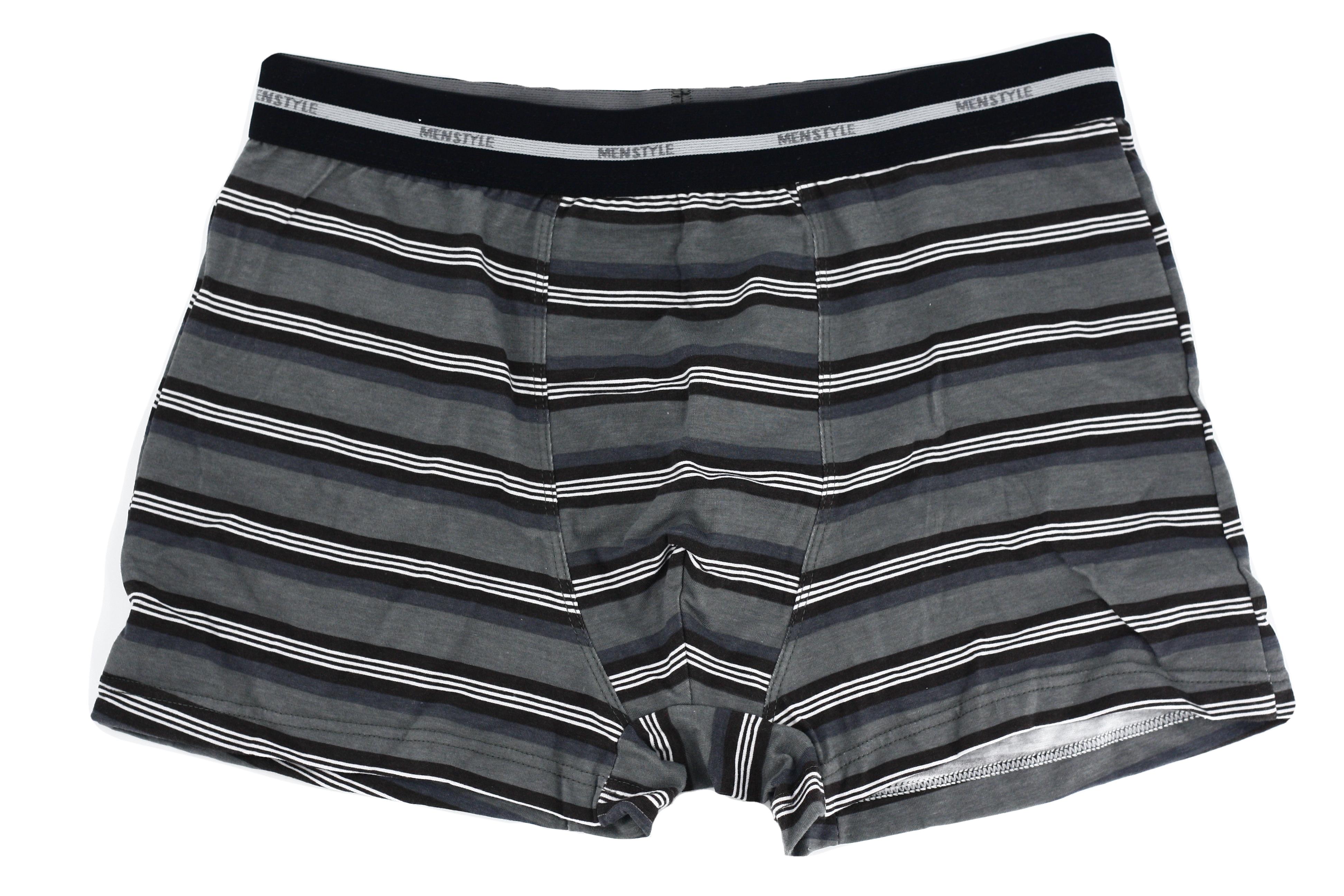 Pánské boxerky 1BE-483 - Redo - Šedá s proužkem/XL