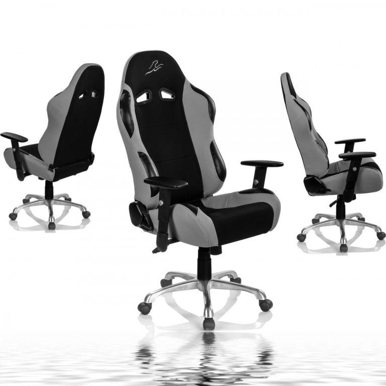 """Židle RACEMASTER """"RS Series"""", stříbrná"""