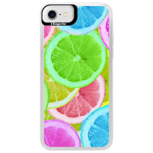 Neonové pouzdro Blue iSaprio - Lemon 02 - iPhone 7