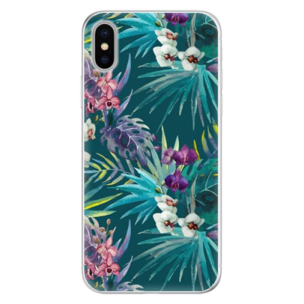 Silikonové pouzdro iSaprio - Tropical Blue 01 - iPhone X