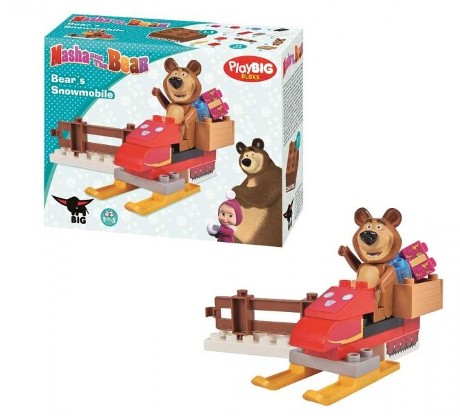 Stavebnice Play BIG BLOXX Máša a medvěd Míša se skútrem