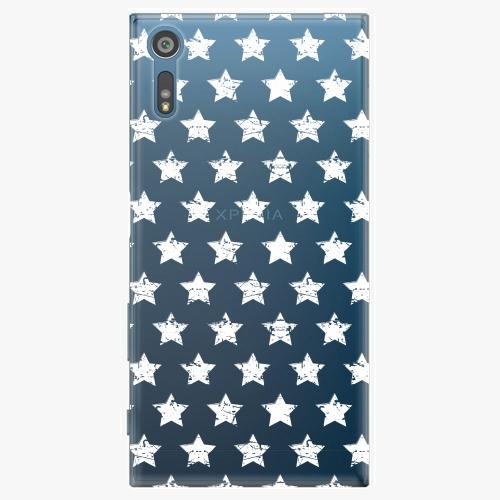 Plastový kryt iSaprio - Stars Pattern - white - Sony Xperia XZ