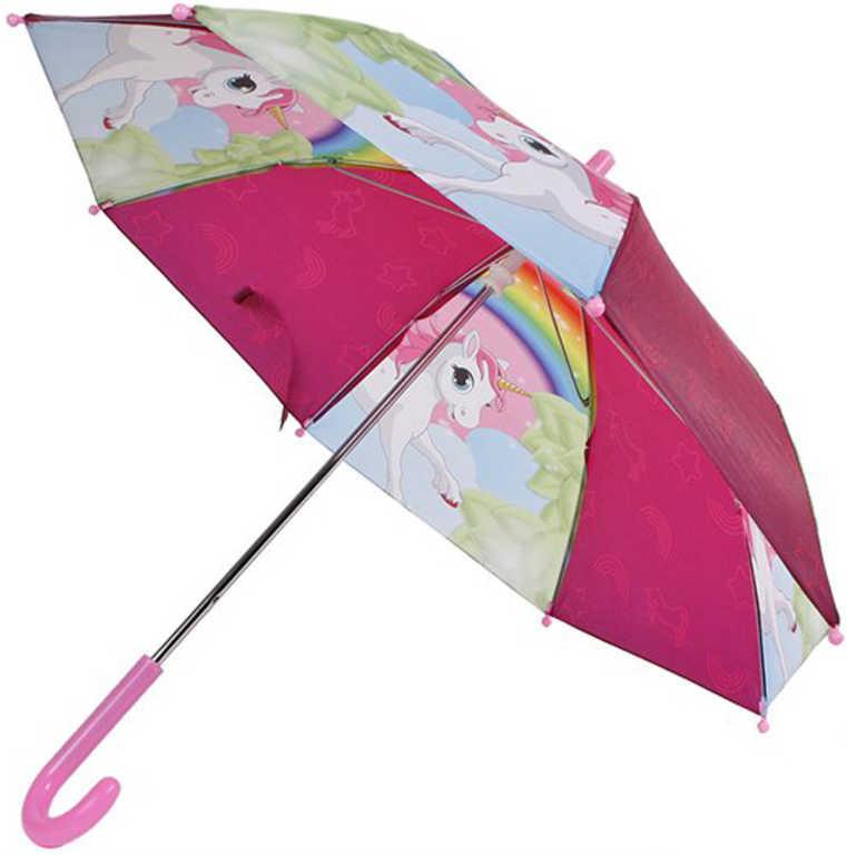 Deštník dětský holčičí jednorožec 68x60cm v sáčku
