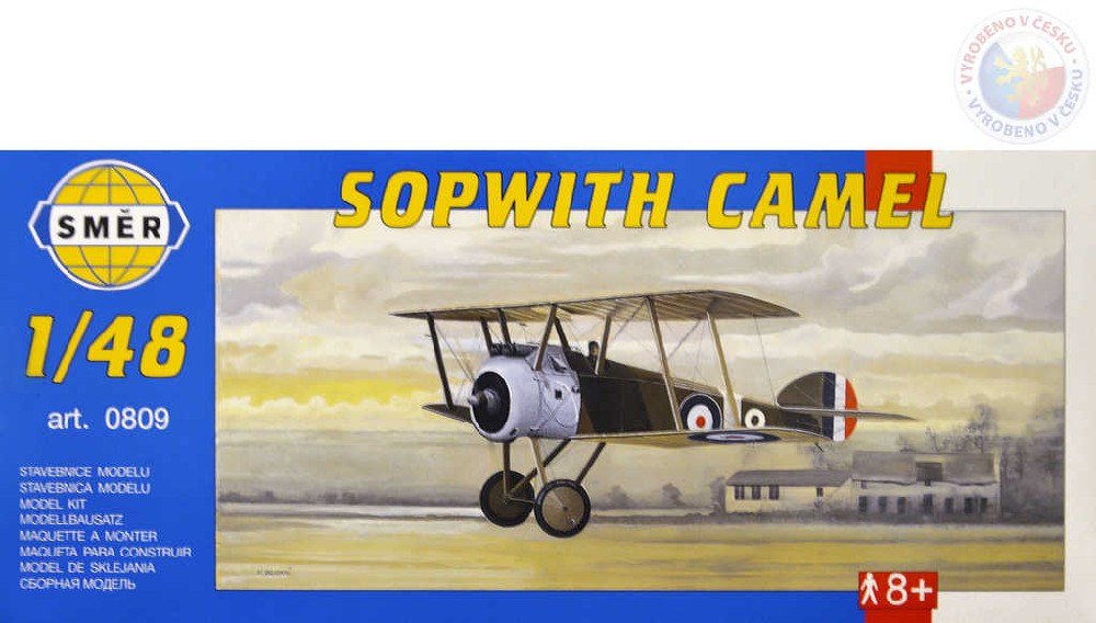 SMĚR Model letadlo Sopwith Camel 1:48 (stavebnice letadla)