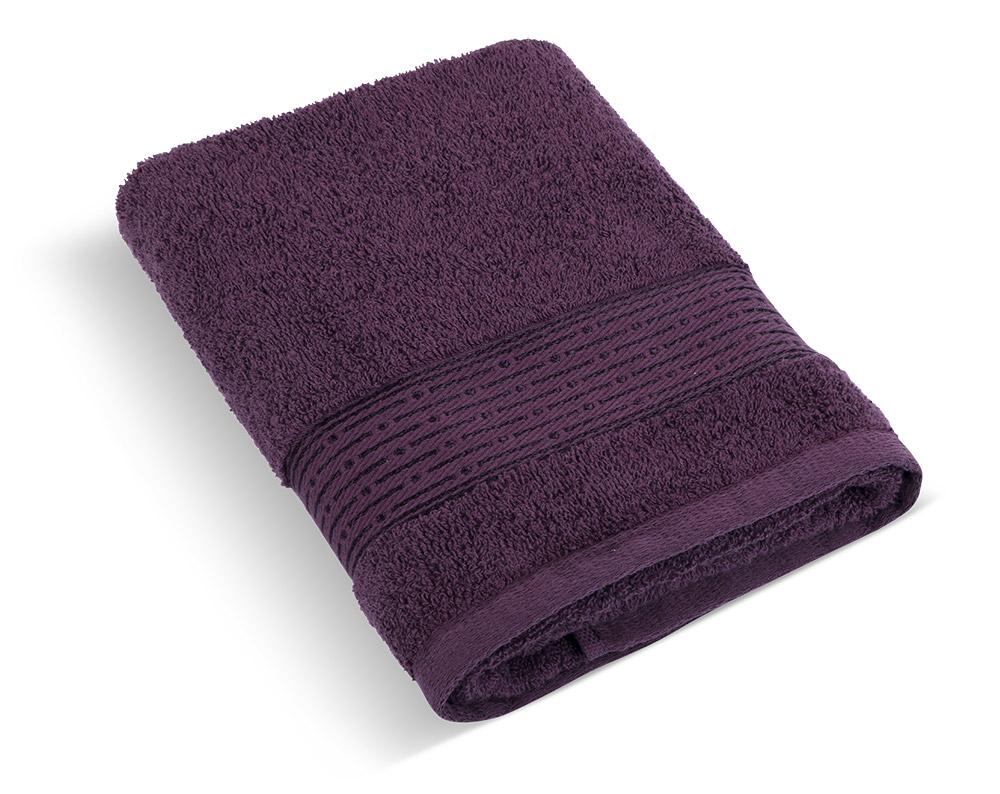 Froté ručník 50x100cm proužek 450g tmavě vínová