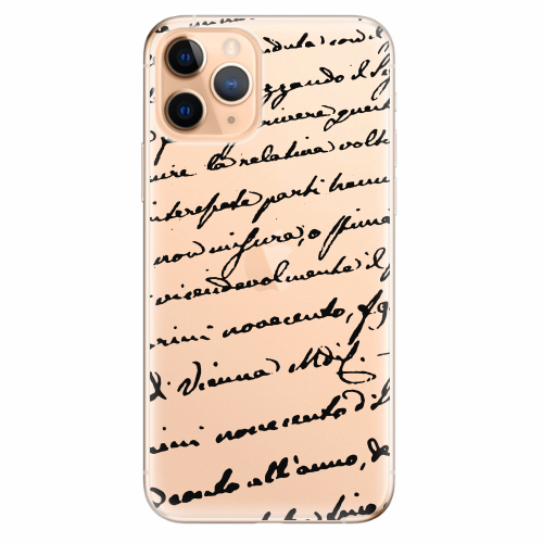 Silikonové pouzdro iSaprio - Handwriting 01 - black - iPhone 11 Pro