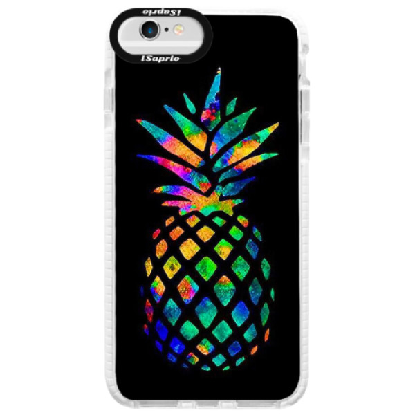 Silikonové pouzdro Bumper iSaprio - Rainbow Pineapple - iPhone 6/6S