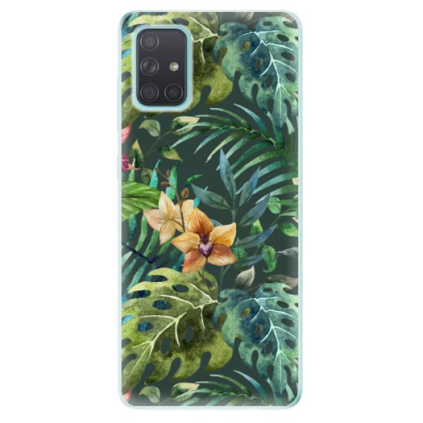 Odolné silikonové pouzdro iSaprio - Tropical Green 02 - Samsung Galaxy A71