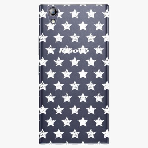 Plastový kryt iSaprio - Stars Pattern - white - Lenovo P70