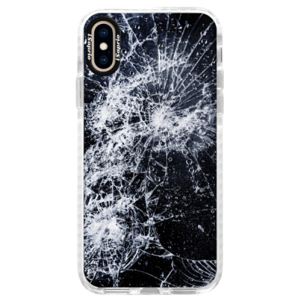 Silikonové pouzdro Bumper iSaprio - Cracked - iPhone XS
