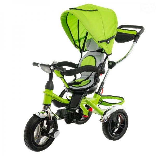 Dětská tříkolka Euro Baby s vodící tyčí 2019 - zelená