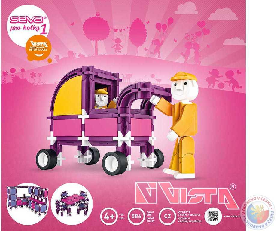 VISTA SEVA 1 Pro dívky plastová STAVEBNICE 586 dílků v krabici