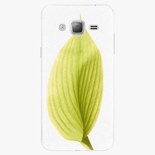Plastový kryt iSaprio - Green Leaf - Samsung Galaxy J3 2016
