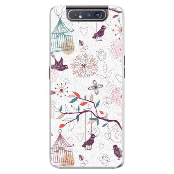 Plastové pouzdro iSaprio - Birds - Samsung Galaxy A80
