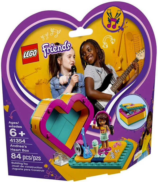 LEGO FRIENDS Andreina srdcová krabička 41354