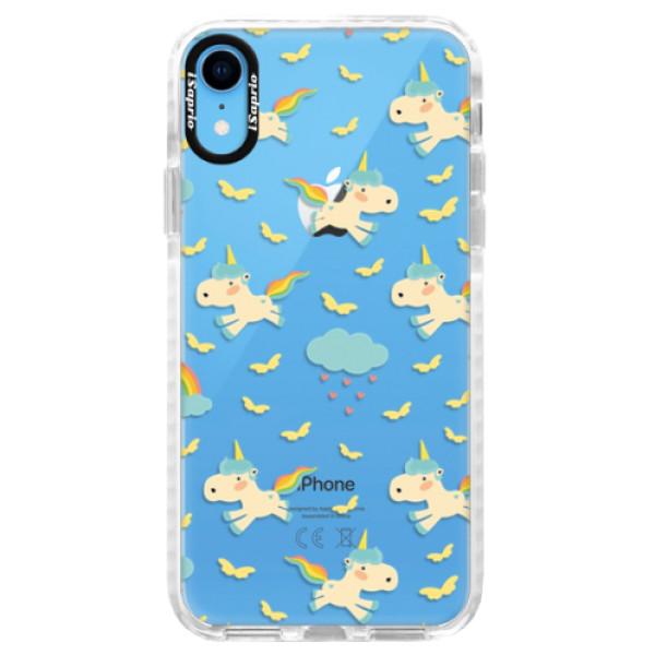 Silikonové pouzdro Bumper iSaprio - Unicorn pattern 01 - iPhone XR