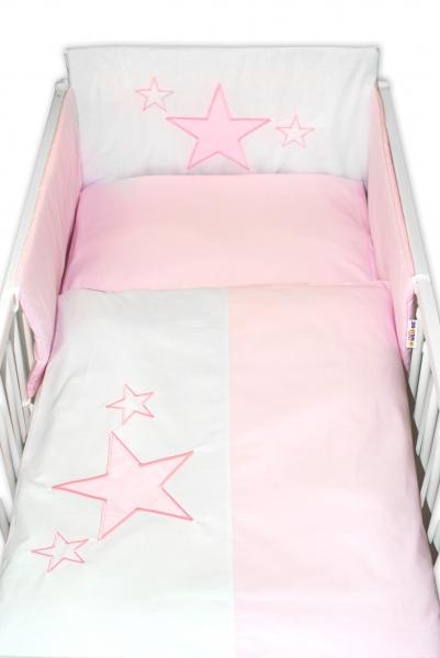 baby-nellys-mantinel-s-povlecenim-baby-stars-ruzovy-vel-135x100cm-135x100